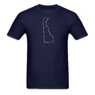 T-Shirts ~ Men's T-Shirt ~ Delaware Outline