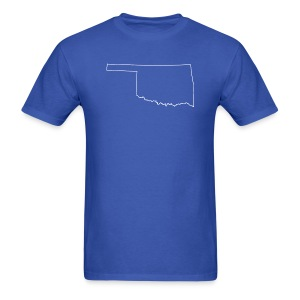 Oklahoma Outline - Men's T-Shirt