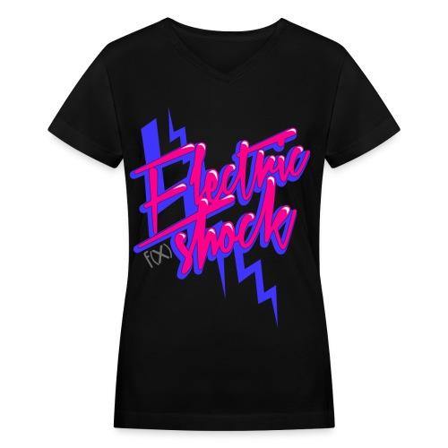 [f(x)] Electrick Shock V. 2 - Women's V-Neck T-Shirt