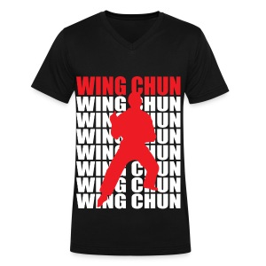 Wing Chun - Men's V-Neck T-Shirt by Canvas
