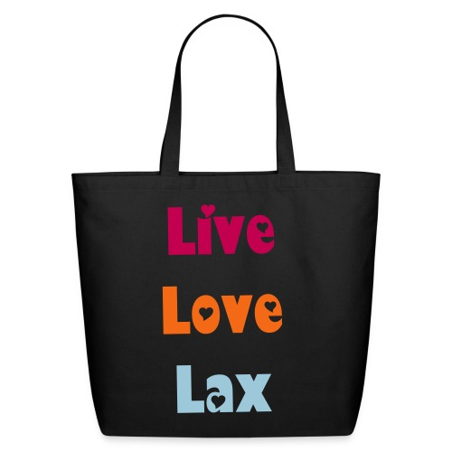 Live Love Lax Eco-Friendly Tote - Eco-Friendly Cotton Tote