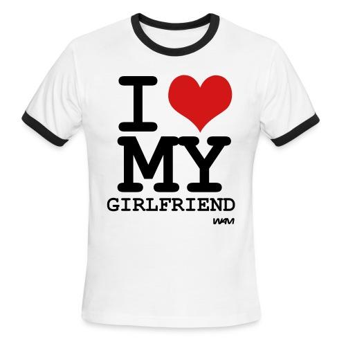 I <3 my girlfriend - Men's Ringer T-Shirt