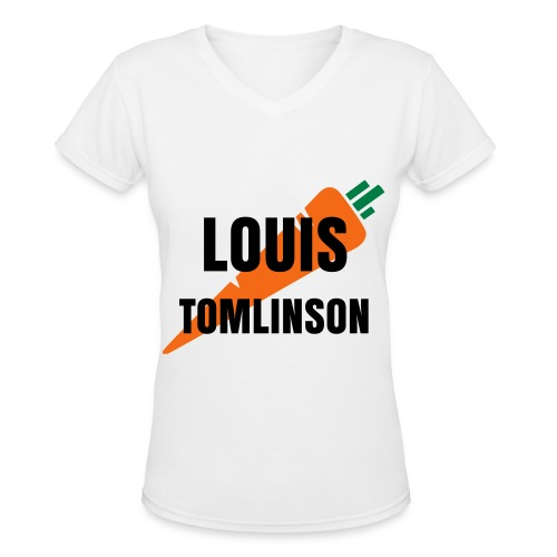 Louis Tomlinson Carrot - Women's V-Neck T-Shirt