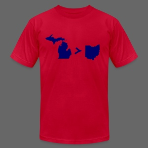 Geography and Math - Men's T-Shirt by American Apparel