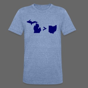 Geography and Math - Unisex Tri-Blend T-Shirt by American Apparel