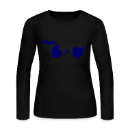 Long Sleeve Shirts ~ Women's Long Sleeve Jersey T-Shirt ~ Geography and Math