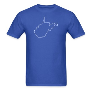 West Virginia Outline - Men's T-Shirt
