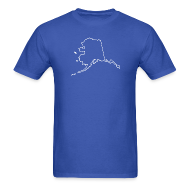 T-Shirts ~ Men's T-Shirt ~ Alaska Outline
