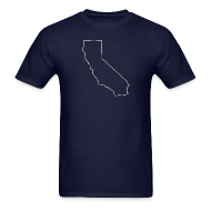 T-Shirts ~ Men's T-Shirt ~ California Outline