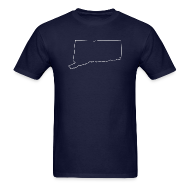 T-Shirts ~ Men's T-Shirt ~ Connecticut Outline