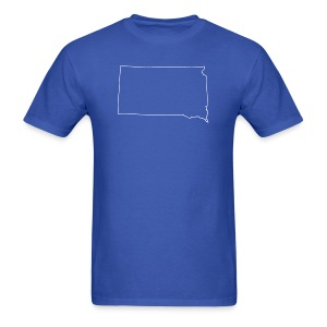 South Dakota Outline - Men's T-Shirt