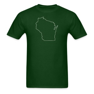 Wisconsin Outline - Men's T-Shirt