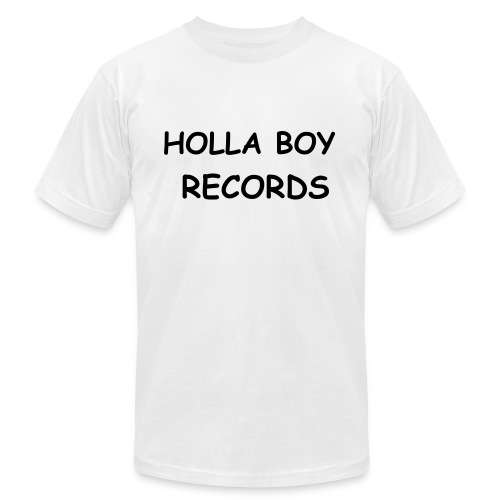 HOLLA BOY RECORDS TEE!!! - Men's Fine Jersey T-Shirt