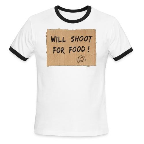 Will Shoot For Food - Men's Ringer T-Shirt