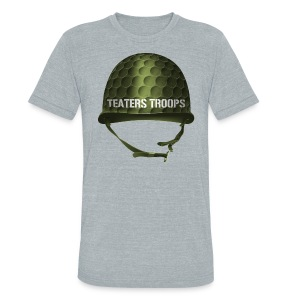 Teaters Troops Vintage - Unisex Tri-Blend T-Shirt by American Apparel