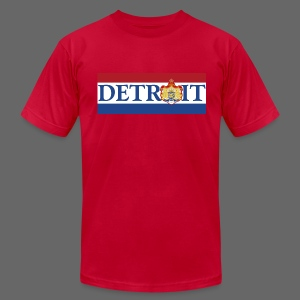 Detroit Netherlands Flag - Men's T-Shirt by American Apparel