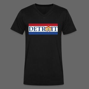 Detroit Netherlands Flag - Men's V-Neck T-Shirt by Canvas