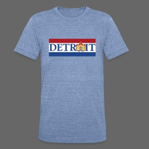 Detroit Netherlands Flag - Unisex Tri-Blend T-Shirt by American Apparel