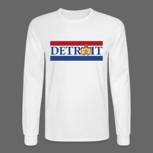 Detroit Netherlands Flag - Men's Long Sleeve T-Shirt