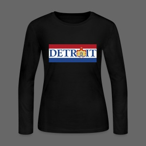 Detroit Netherlands Flag - Women's Long Sleeve Jersey T-Shirt
