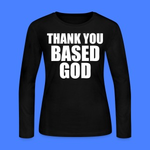 Thank You Based God Long Sleeve Shirts - stayflyclothing.com - Women's Long Sleeve Jersey T-Shirt