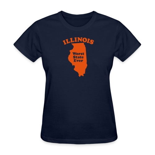 ILLINOIS WORST STATE EVER - Women's T-Shirt