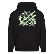 Hoodies ~ Men's Hoodie ~ Charles Celebration GLOW IN THE DARK HOODIE