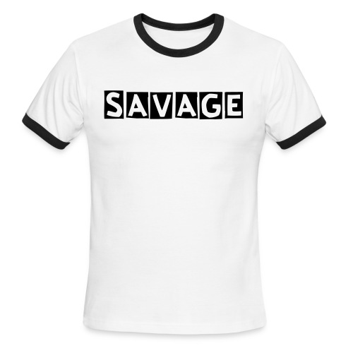 savage t shirt - Men's Ringer T-Shirt
