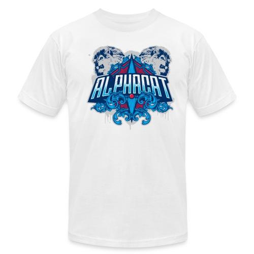 Alphacat White Tee by American Apparel - Men's  Jersey T-Shirt