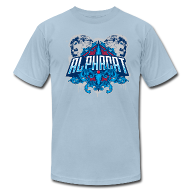 T-Shirts ~ Men's T-Shirt by American Apparel ~ Alphacat Light Blue Tee by American Apparel