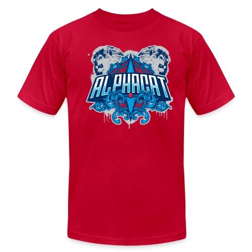 Alphacat Light Blue Tee by American Apparel - Men's Fine Jersey T-Shirt