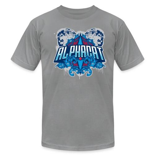 Alphacat Slate Grey Tee by American Apparel - Men's  Jersey T-Shirt