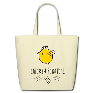 Chicken scratch tote - Eco-Friendly Cotton Tote