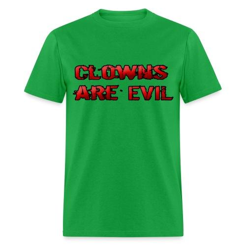Clowns Are Evil - Men's T-Shirt
