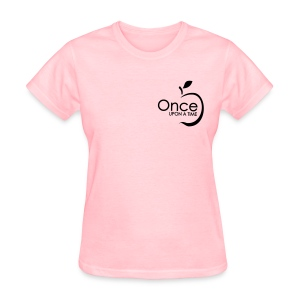 Once Upon A Time w/ Apple Tee (no back) BLACK ink - Women's T-Shirt