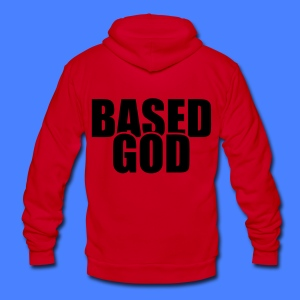 Based God Zip Hoodies/Jackets - stayflyclothing.com - Unisex Fleece Zip Hoodie by American Apparel