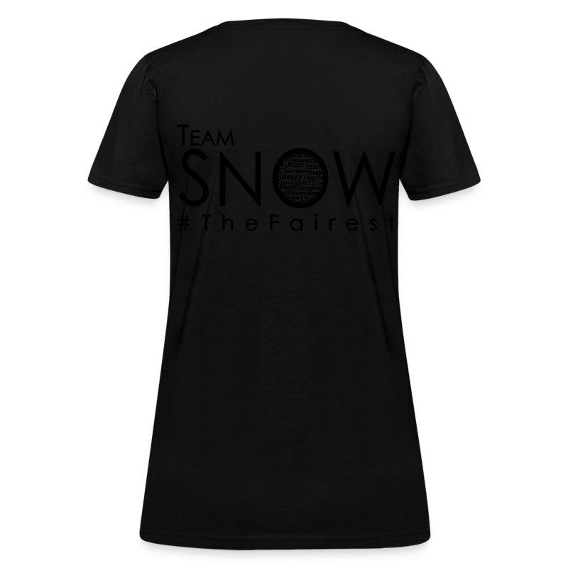 TeamSnow - #TheFairest Tshirt BLACK ink T-Shirt | Julie Ann ...
