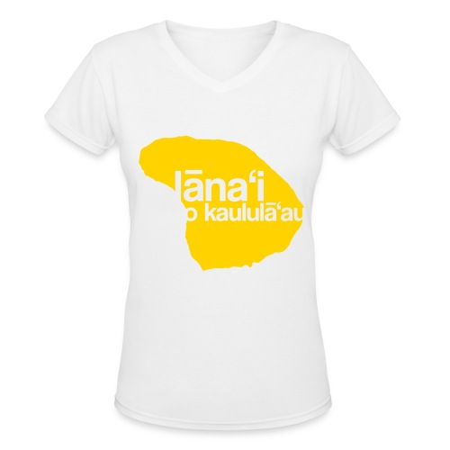 Lanai a Kaululaau - Women's V-Neck T-Shirt