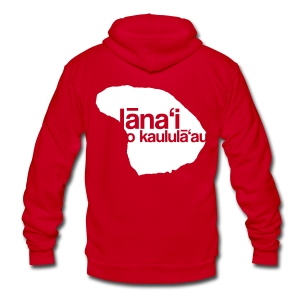 Lanai a Kaululaau - Unisex Fleece Zip Hoodie by American Apparel