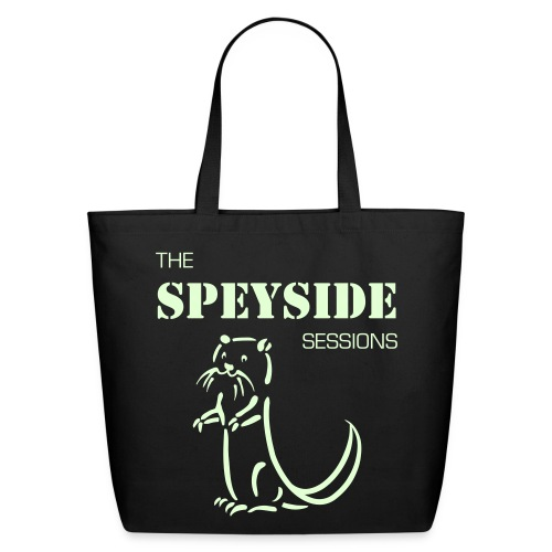Otter Standing Cartoon + Speyside Sessions (SINGLE SIDED) w/Glow in Dark print - Eco-Friendly Cotton Tote