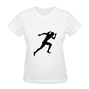 Runner, Female Sprinter, Running Women's T-Shirts - Women's T-Shirt