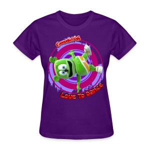 Gummibär (The Gummy Bear) Love To Dance Ladies Standard T-Shirt - Women's T-Shirt