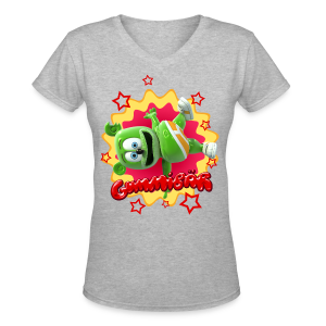 Gummibär (The Gummy Bear)  Starburst Ladies V-Neck T-Shirt - Women's V-Neck T-Shirt
