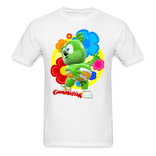 Gummibär (The Gummy Bear)  Fun Flowers Men's Standard T-Shirt - Men's T-Shirt