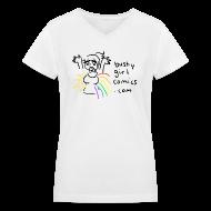 T-Shirts ~ Women's V-Neck T-Shirt ~ Sunshine and Rainbow T-Shirt - V-Neck