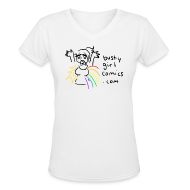 T-Shirts ~ Women's V-Neck T-Shirt ~ Sunshine and Rainbow T-Shirt - V-Neck