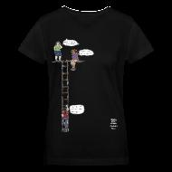 T-Shirts ~ Women's V-Neck T-Shirt ~ Overhanging Cliff T-Shirt - V-Neck
