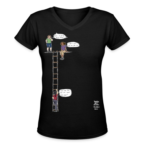 Overhanging Cliff T-Shirt - V-Neck - Women's V-Neck T-Shirt