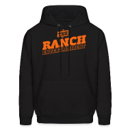 Hoodies ~ Men's Hoodie ~ Original Men's Hoodie 1 Orange on Black