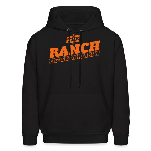 Original Men's Hoodie 1 Orange on Black - Men's Hoodie